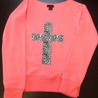 Drop Shoulder Long Sleeve Tee- Cross