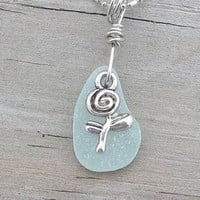 Beach Rose Sea Glass Necklace