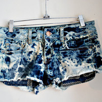 acid wash vintage 80's short shorts hand dyed by GypsyAffairs