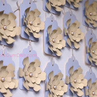 Gift Tags Hang Tag Paper Flowers Large 3x5 Cardstock Set of 2