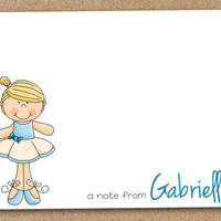 Ballerina Dance Note Cards Personalized Custom by Luv2ScrapForU