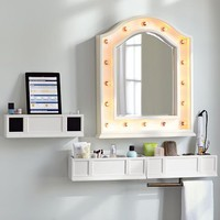 Hannah Beauty Mirror + Shelves