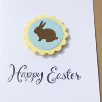 Easter Bunny Card by RoyalRegards on Etsy