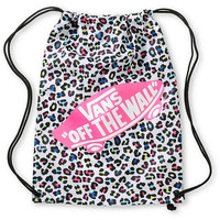 Vans White &amp; Pink Leopard Print Cinch Bag