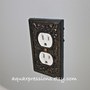 Black Decorative Electrical Outlet Plate /Plugin by AquaXpressions