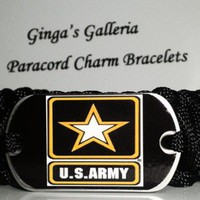 King Cobra US Army Dog Tag 550 Paracord Survival Bracelet