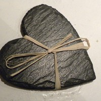 pair of slate heart coasters by TheNestUK on Etsy