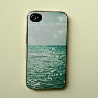hipster iphone case  Sea of Happiness aqua summer by joystclaire