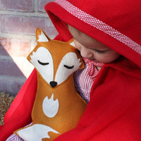 Forest Critters Sleepy Fox with Pine Cone Eco by SavageSeeds