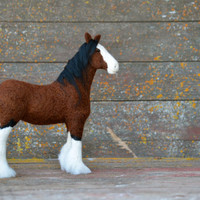 Horse - Needle Felted Clydesdale - animal sculpture