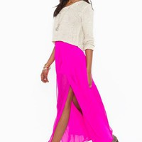 Harley Maxi Skirt  in  What&#x27;s New at Nasty Gal