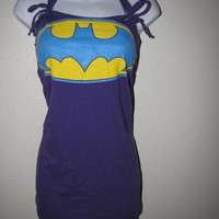 HOLY BUILT IN BRA BATMAN  corset inspired by frommyhandstoyours