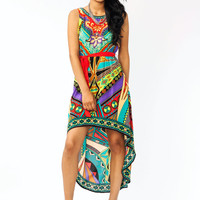 printed-high-low-dress REDCAMEL - GoJane.com