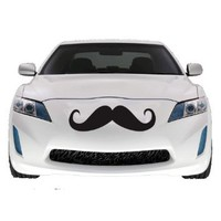 Mustache Car Decal , Vinyl Sticker, Large 2 PACK, 22&amp;quot;: Home &amp; Kitchen