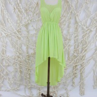 Neon Nights High Low Dress - Dresses - Apparel