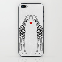 Giraffe Love iPhone &amp; iPod Skin by Jacqueline Maldonado | Society6