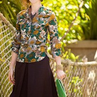Zoology Cotton Print Blouse