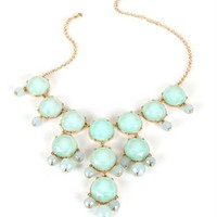 Gold/Mint Bubble Necklace