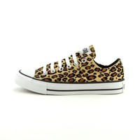 Converse All Star Lo Athletic Shoe, Tan Leopard  Journeys Shoes