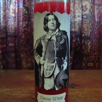 Oscar Wilde Prayer Candle by DeadMenTellingTales on Etsy