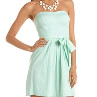 Tie-Waist Polka Dot Tube Dress: Charlotte Russe