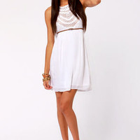 Crochet There! White Crochet Dress