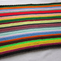 Scrap Crocheted Table Runner Multicolor