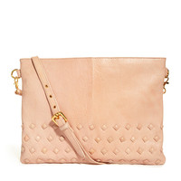 Leather Stud Clutch Bag