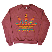Some Girls Get High  Weed &amp; Wisdom Crew Neck