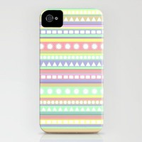 Pastel Pattern iPhone Case by Romi Vega