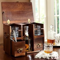Wood Scotch Box | Pottery Barn