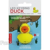 Duck LED Light Up Keychain