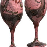 Amazon.com: Pink Camo Wine Glasses Set/2: Kitchen & Dining
