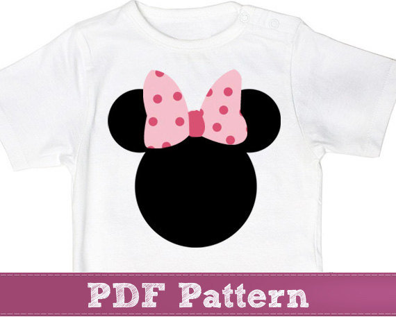 Minnie Mouse applique template pattern - from KikoiPatterns on