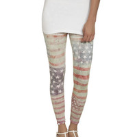 Distressed American Flag Legging | Shop Bottoms at Wet Seal
