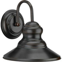 Shop 10-in Antique Bronze Outdoor Wall Light at Lowes.com