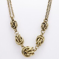 Brass Knots Necklace - ShopSosie.com