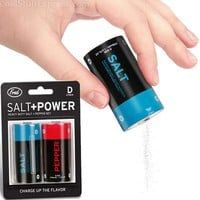 Salt And Power Battery Pepper Shakers
