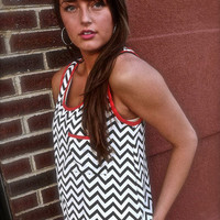 Sassy Chevron Tank | The Rage
