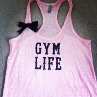 Gym Life Burn out Racer-back Tank