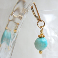 Sky BlueTurquoise Dangle Earrings