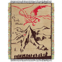 The Hobbit: An Unexpected Journey Lonely Mountain Woven Tapestry Throw Blanket |