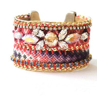 OOAKjewelz luxury line Friendship bracelet cuff with by OOAKjewelz