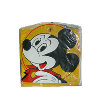 Vintage Children's Mickey Mouse Shoe Bag - 6 Pockets in Golden Yellow and Red -  Closet Organizer