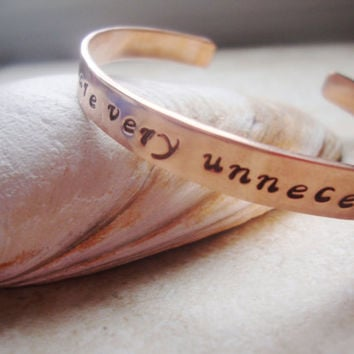 Depeche Mode lyrics quote handstamped copper bracelet
