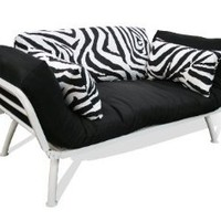 American Furniture Alliance Modern Loft Collection Futon Mali Flex Combo, Zebra Print: Home & Kitchen