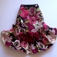 Floral Dog Dresses Moon Garden Dog Clothes Fur Baby Puppy Couture