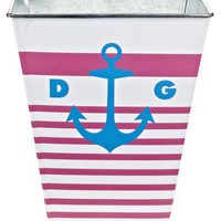 Delta Gamma Sorority Wastebasket - Anchors Away - Delta Gamma