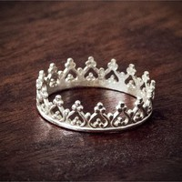 Sterling Silver Majestic Crown Ring