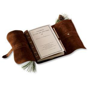 Refillable Leather Travel Journal / Col. Littleton No. 9 Personalized Leather Journal -- Orvis